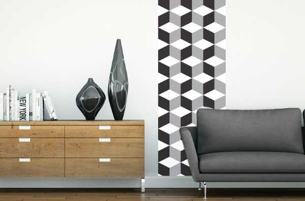 papier peint adh sif le vinyle d core les murs. Black Bedroom Furniture Sets. Home Design Ideas